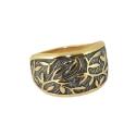 Кольцо, позолоченное серебро с чернением. Ювелирная компания