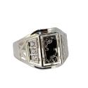 Серебро  перстень, фианиты. Ювелирная компания