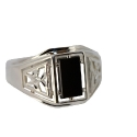 Серебро  перстень оникс. Ювелирная компания