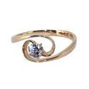 Золото  кольцо  фианит. Ювелирная компания