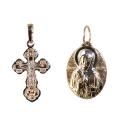 Золото  подвески  крест и образок. Ювелирная компания