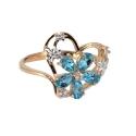 Золото  кольцо голубой топаз, фианит. Ювелирная компания