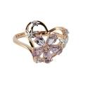 Золото  кольцо  аметист, фианит. Ювелирная компания