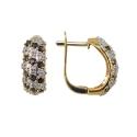 Серьги, золото, сапфиры, бриллианты. Ювелирная компания