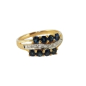 Кольцо, золото, сапфиры, бриллианты. Ювелирная компания