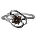 Серебро кольцо раух топаз. Ювелирная компания