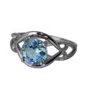 Серебро кольцо голубой топаз. Ювелирная компания