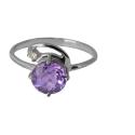 Серебро кольцо аметист, фианит. Ювелирная компания