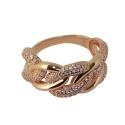 Позолоченое серебро кольцо, фианиты. Ювелирная компания
