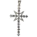 Крест серебро, фианиты. Ювелирная компания