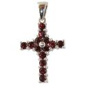 Крест серебро, гранаты. Ювелирная компания