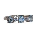 Кольцо, серебро,  голубой топаз, фианиты. Ювелирная компания