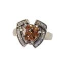 Кольцо, серебро,  цетрин, фианиты. Ювелирная компания