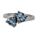 Кольцо, серебро,  голубой топаз. Ювелирная компания