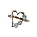 Кольцо, серебро,  аметист, голубой топаз. Ювелирная компания