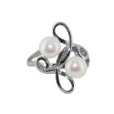 Кольцо серебро, жемчуг. Ювелирная компания