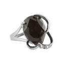 Кольцо серебро, оникс, фианиты. Ювелирная компания