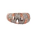 Кольцо позолоченное серебро,  фианиты. Ювелирная компания