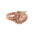 Кольцо позолоченное серебро,  жемчуг, фианиты. Ювелирная компания