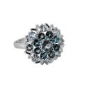 Кольцо, серебро, лондон топаз, голубой топаз. Ювелирная компания