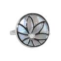 Кольцо серебро, перламутр, фианит. Ювелирная компания