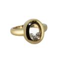 Кольцо, лимонное золото, фианиты. Ювелирная компания