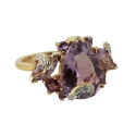 """Кольцо, золото, бриллианты, аметист. Ювелирная компания """"МАБЭ""""."""