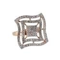 Золото  кольцо  фианиты. Ювелирная компания