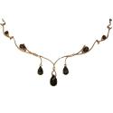 Ожерелье  золото, дымчатый топаз.  Ювелирная компания