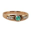Кольцо, золото, изумруд, бриллианты.  Ювелирная компания