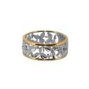 """Кольцо, серебро, позолоченное серебро. Ювелирная компания """"МАБЭ""""."""