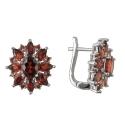 Серьги, серебро, гранаты. Ювелирная компания
