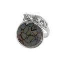 Кольцо  серебро, ледистый кварц.  Ювелирная компания