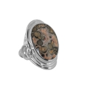 Кольцо  серебро, яшма.  Ювелирная компания