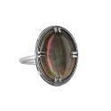 Кольцо  серебро, перламутр.  Ювелирная компания