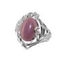 Кольцо  серебро, родохрозит.  Ювелирная компания