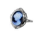 Кольцо-камея  серебро, агат .  Ювелирная компания