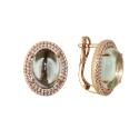 Серьги  серебро, зеленый аметист, фианиты.  Ювелирная компания