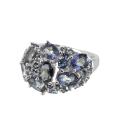 Кольцо  серебро, лондон топаз, голубой топаз.  Ювелирная компания