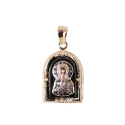 Подвеска Икона  Николая Чудотворца, золото, эмаль.  Ювелирная компания