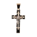 Подвеска  крест  золото, эмаль.  Ювелирная компания