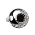 Кольцо стиль Хай-тек, серебро,  эмаль,  оникс,  фианиты.  Ювелирная компания