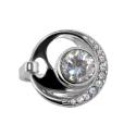 Кольцо стиль Хай-тек, серебро, эмаль, фианиты.  Ювелирная компания