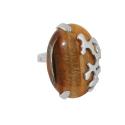 Кольцо  серебро, сердолик.  Ювелирная компания