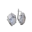 Серьги  серебро,  графический пегматит.  Ювелирная компания