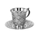 Серебряная чашка с блюдцем  серебро.  Ювелирная компания