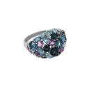 Кольцо, серебро, аметист, голубой топаз, лондон топаз.  Ювелирная компания