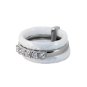 Кольцо, серебро, белый оникс, фианиты.  Ювелирная компания