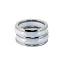 Кольцо, серебро, белый оникс.  Ювелирная компания