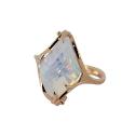 Кольцо, золото, лунный камень.  Ювелирная компания